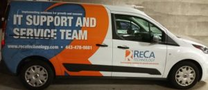ReCa Technology's Baltimore IT Support Truck